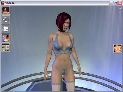 Wizualizacja do Winamp-a, dziewczyny 3D(nagie) tańczą w rytm muzyki. . POL